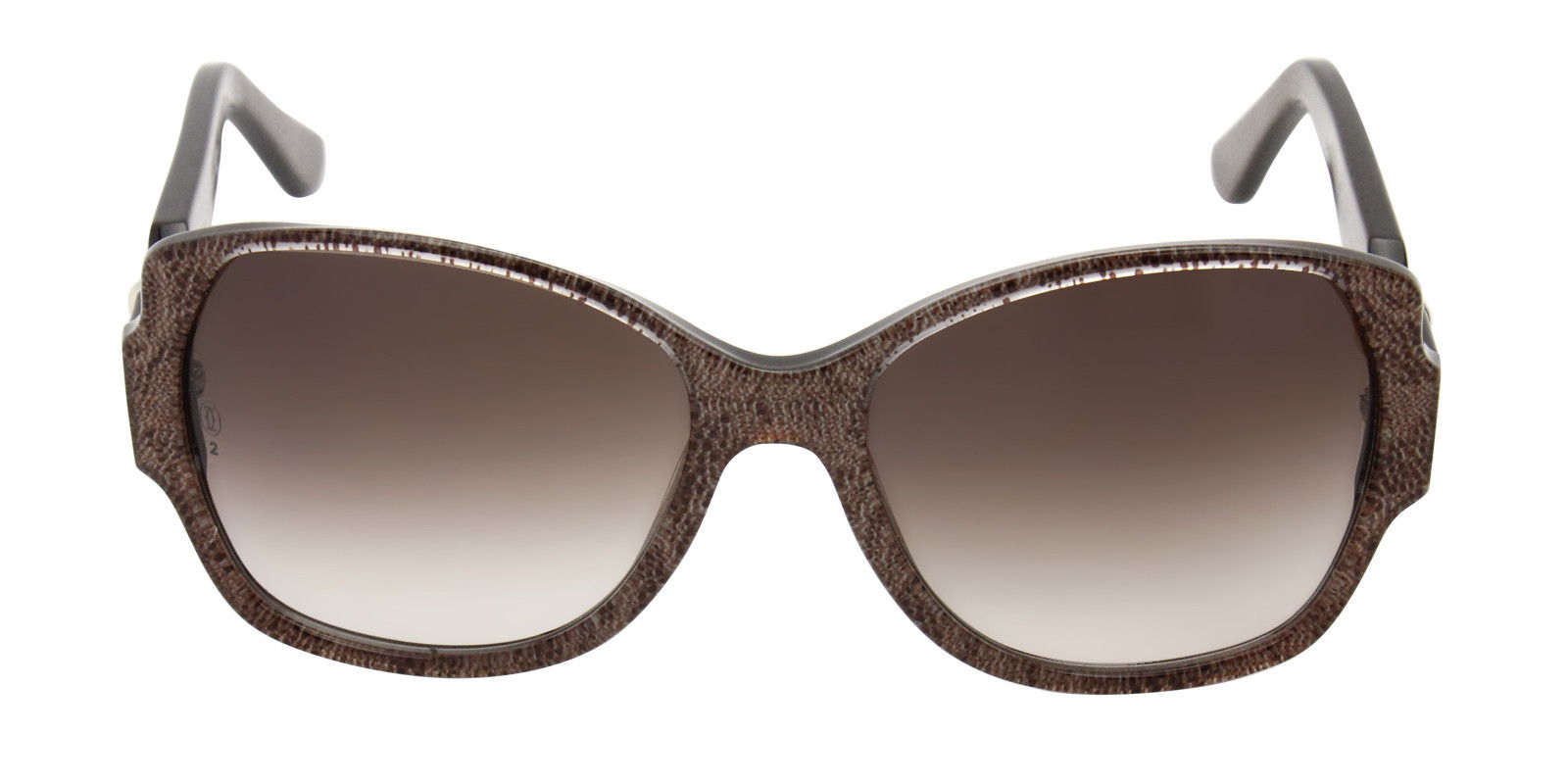 CARTIER WOMEN'S TRINITY T8200912 SUNGLASSES Brown (front)