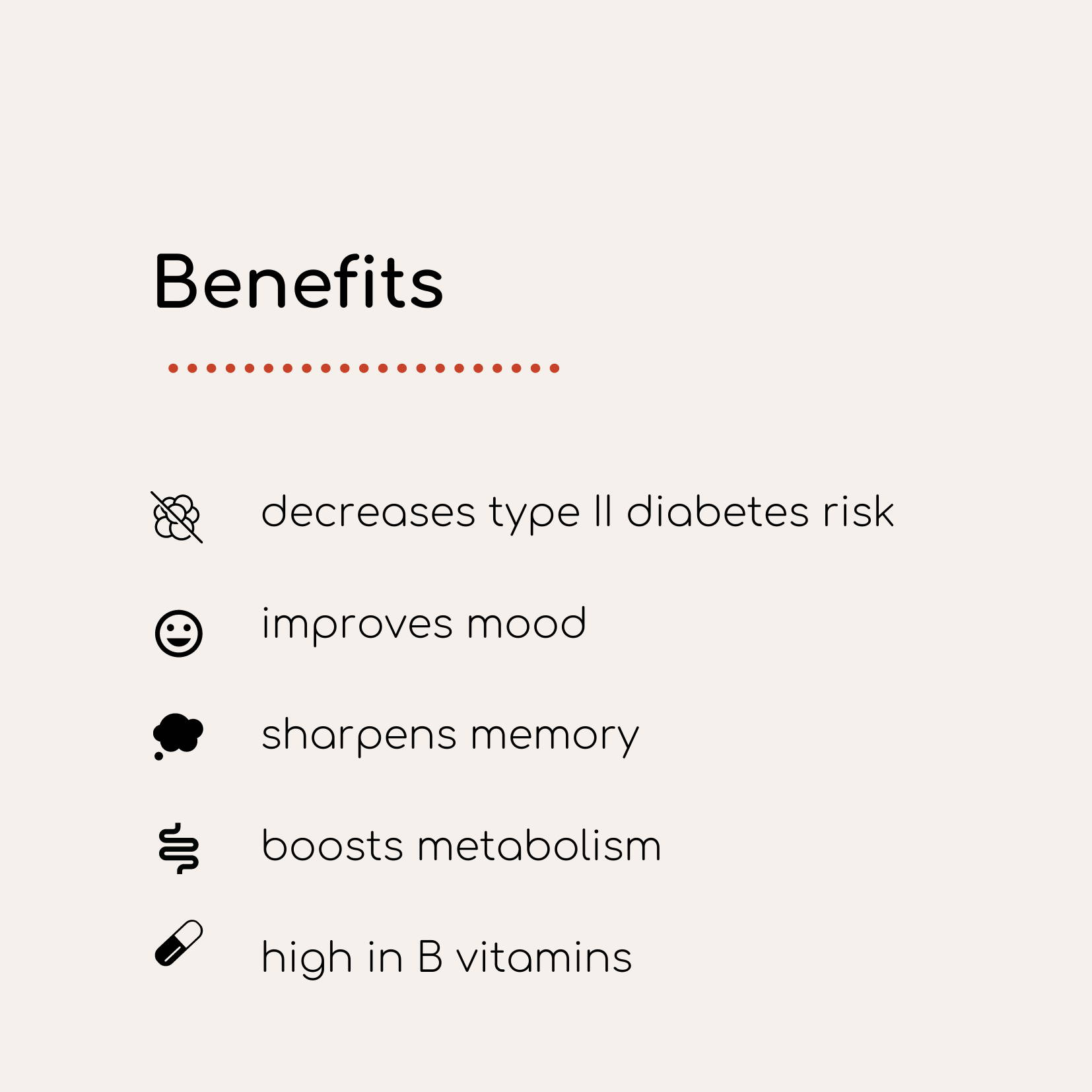 infographic list of benefits