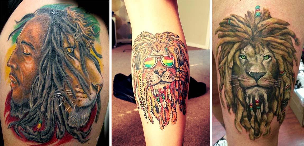 Tatouages Lions Rasta