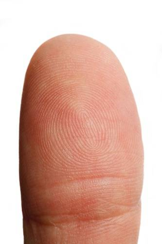 photo of a finger
