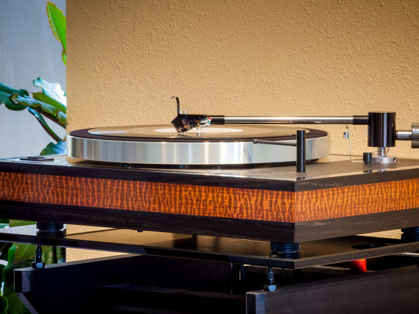 Woodsong Audio Linn Sondek LP12 Snakewood and Ebony plinth!