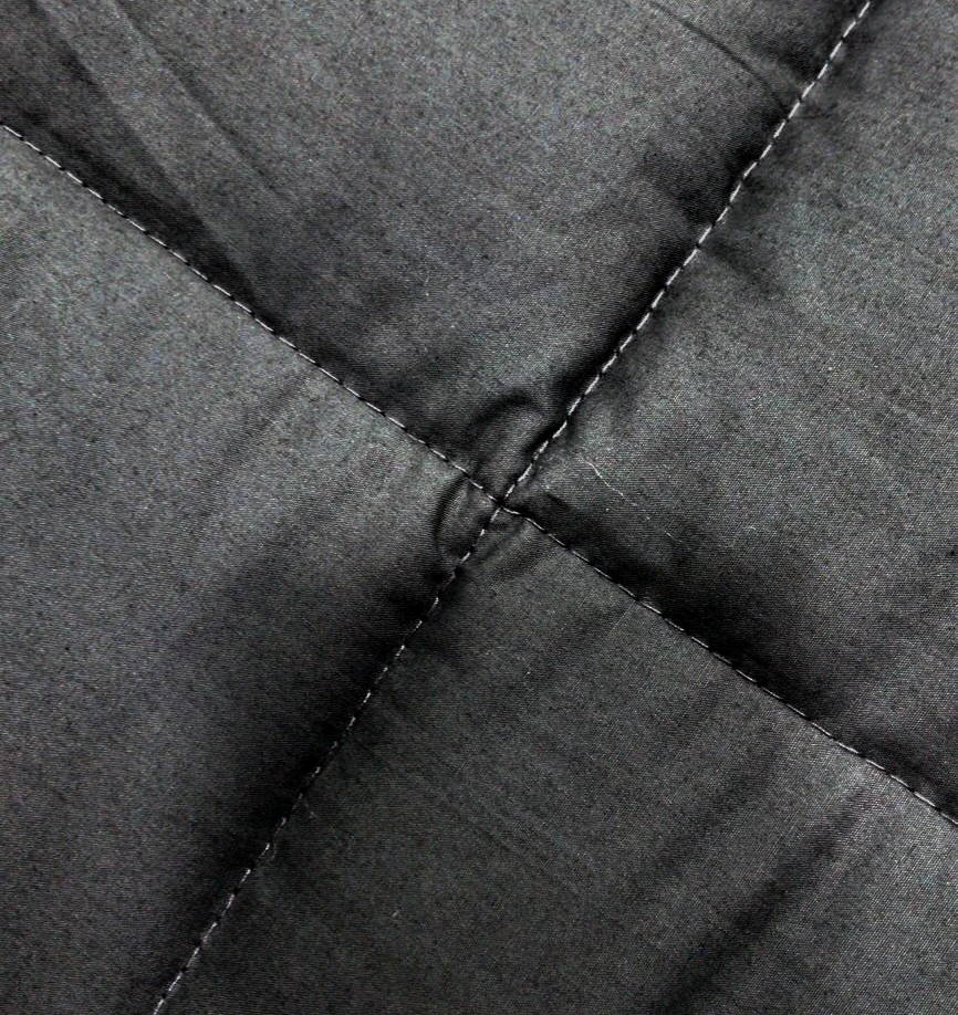 Quilted 233 TC Cotton Percale Shell detail on Weavve's weighted blanket