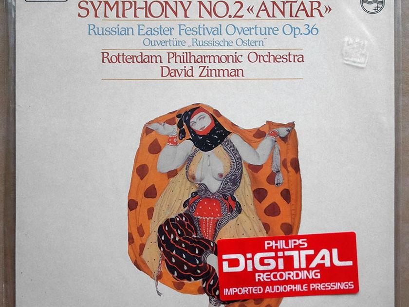 "Sealed PHILIPS Digital | ZINMAN/RIMSKY-KORSAKOV - Symphony No. 2 ""Antar"", Russian Easter Festival Overture"