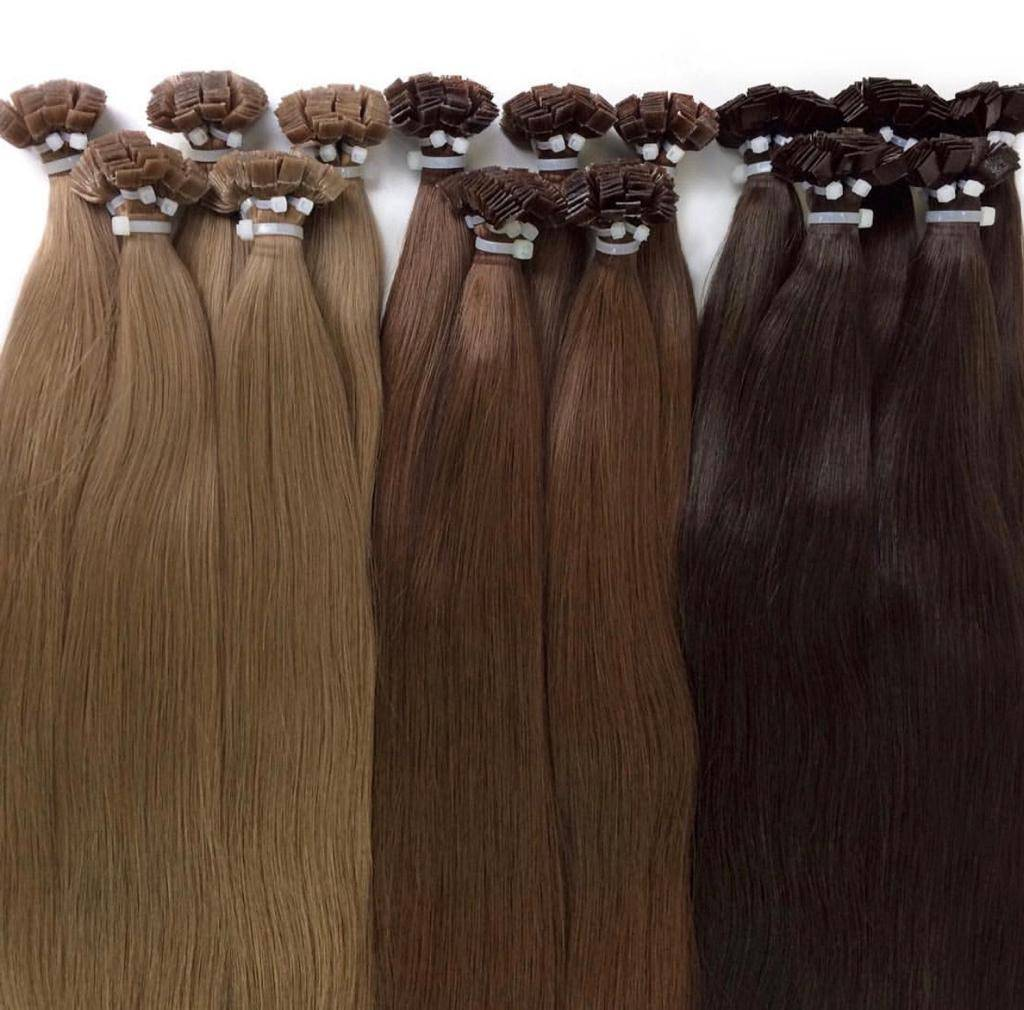 brown hot fusion hair extensions