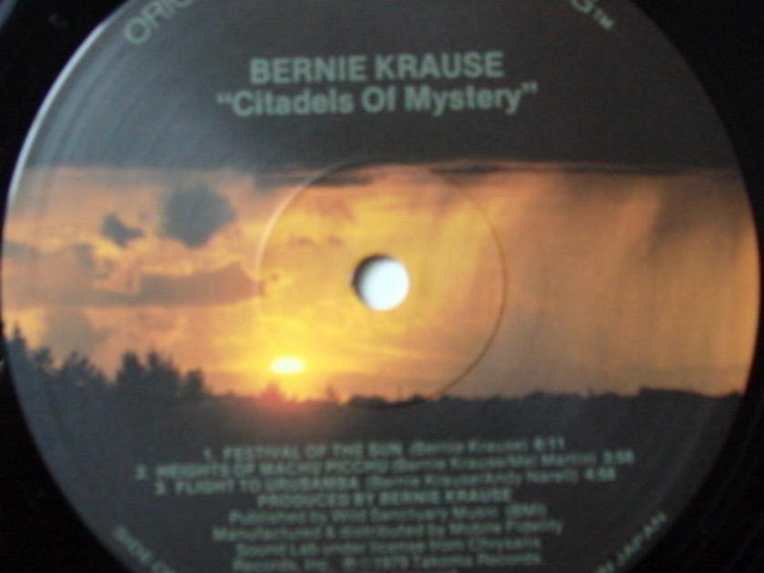 ★Audiophile★ MFSL / BERNIE KRAUSE, - Citadels Of Mystery, NM!