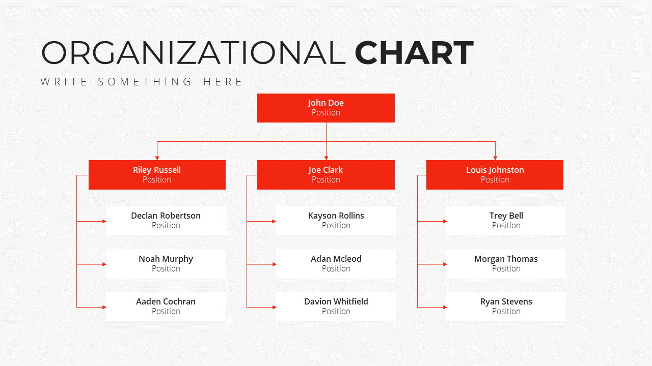 Minimal X Presentation Template Business Plan Organization Chart