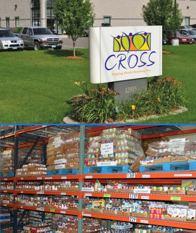 picture of CROSS and donated food