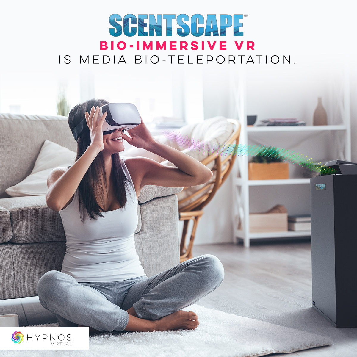 Scentscape Patented NeuroScience VR Bio-Teleportation Technology lets you feel like you are