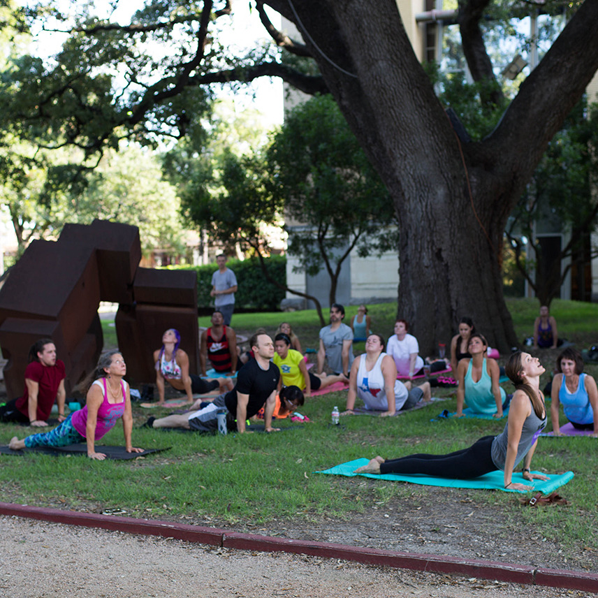 Yoga in the Scuplture Garden