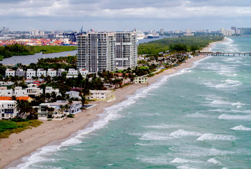 skyview of Dania Beach
