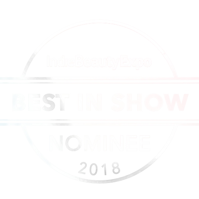 Indie beauty expo, indie beauty expo new york, indie beauty expo best in show, indie beauty expo best in show nominee, indie beauty expo best in show nominee 2018