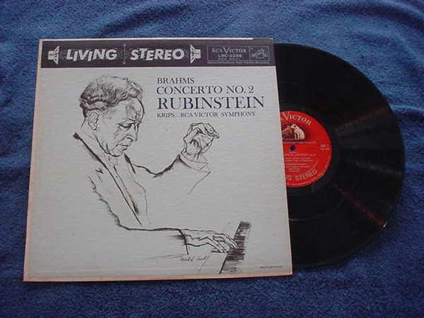 Rubinstein-Krips - Brahms Concerto No2 rca victor lsc-2296