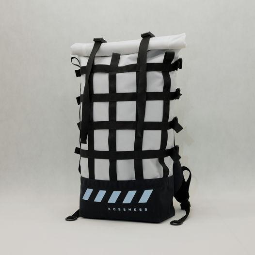 Белый рюкзак со стропой / Ролл топ Сумка / White roll top backpack