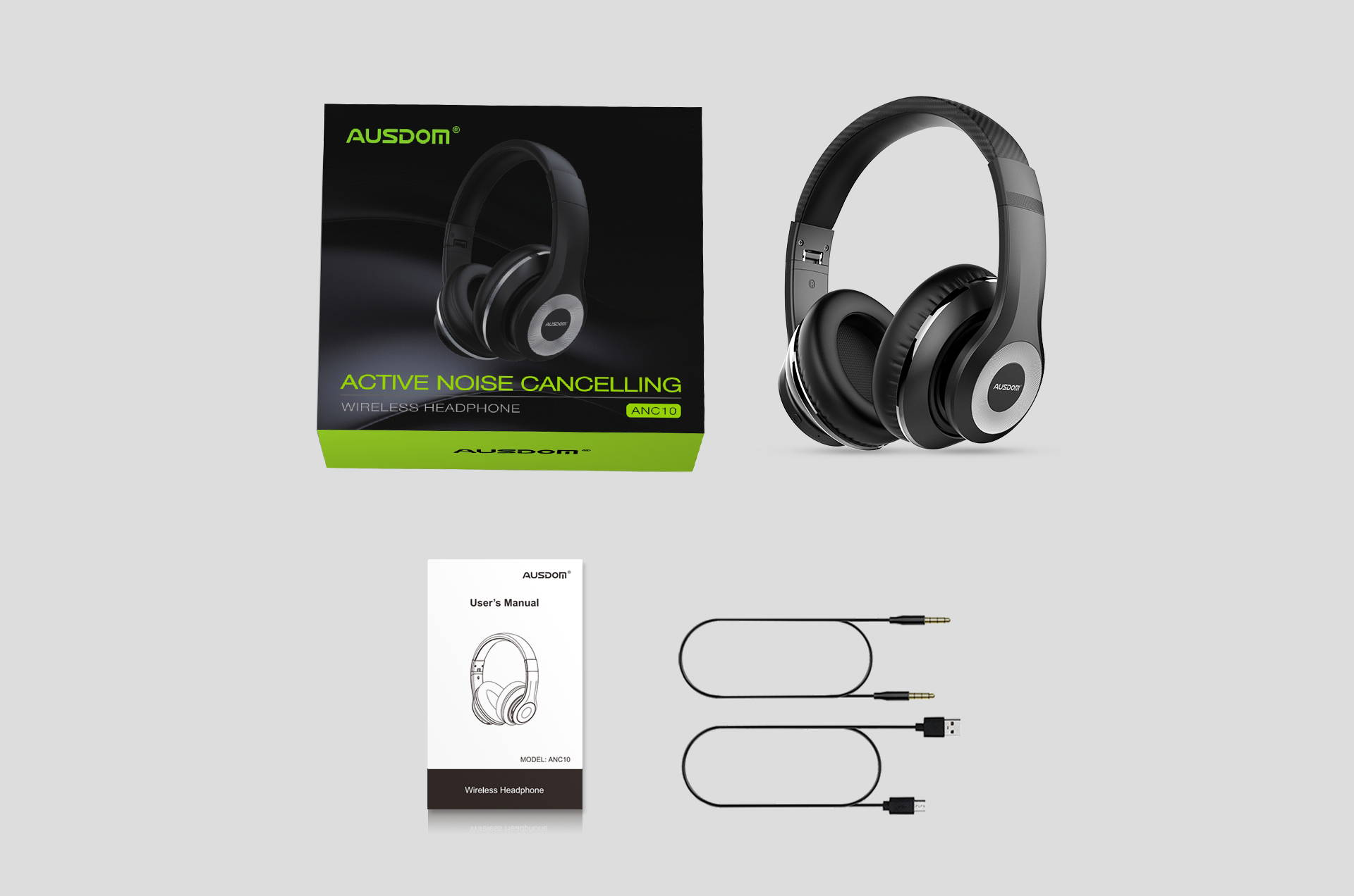 Ausdom ANC10 Active Noise Cancellation Bluetooth V5.0 Headphones
