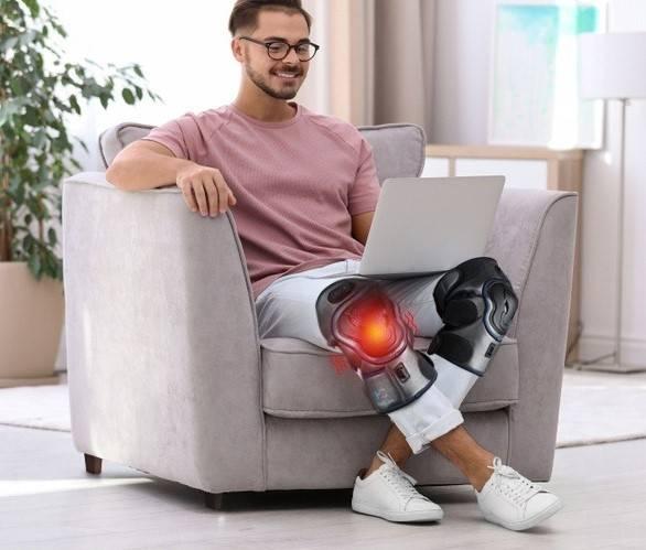 man with unloader knee brace