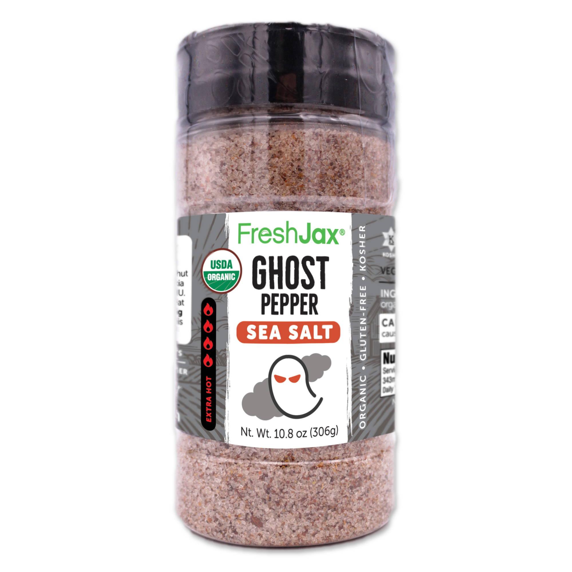 FreshJax Organic Spices, Ghost Pepper Sea Salt large bottle