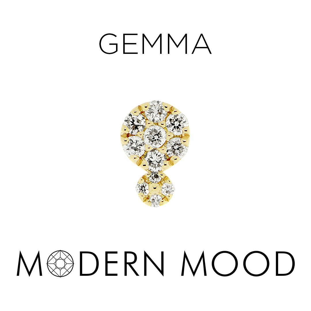 gemma diamond piercing jewely
