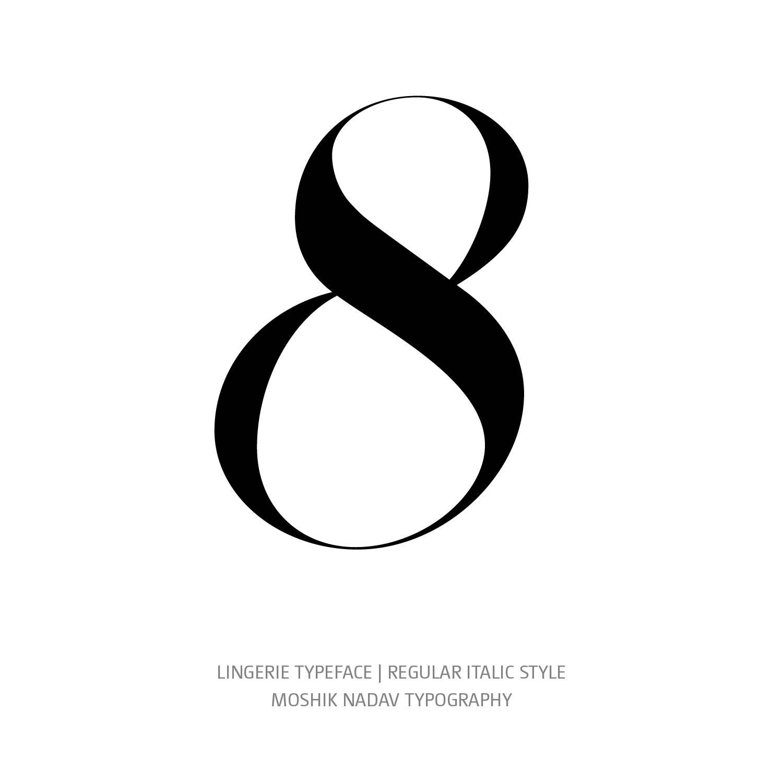 Lingerie Typeface Regular Italic 8 - Fashion fonts by Moshik Nadav Typography