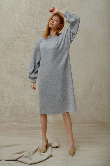 """Трикотажное платье цвета """"серебро"""""""