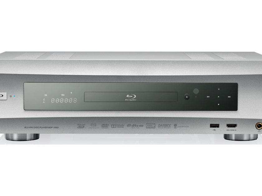 OPPO BDP-105D ALMOST NEW OPEN BOX SILVER FINISH AUDIOPHILE SACD BLURAY PLAYER