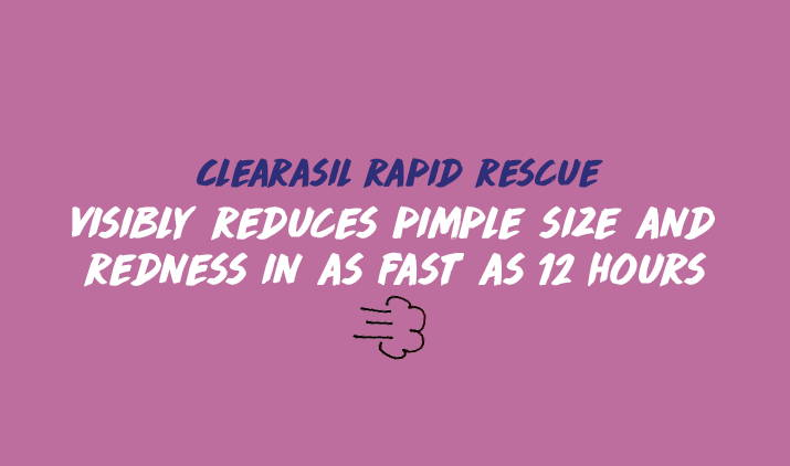 clearasil rapid rescue visibly reduces pimple size and redness in as fast as 12 hours