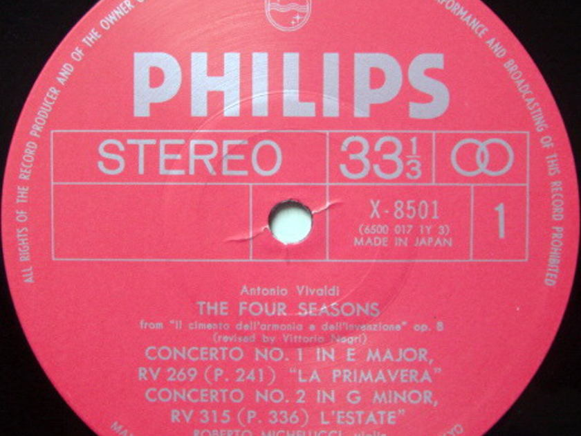 ★Audiophile★ Japan Philips / I MUSICI-MICHELUCCI,  - Vivaldi The Four Seasons,  MINT!