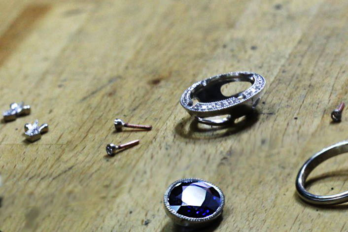 Deep Blue Sea Ring making process