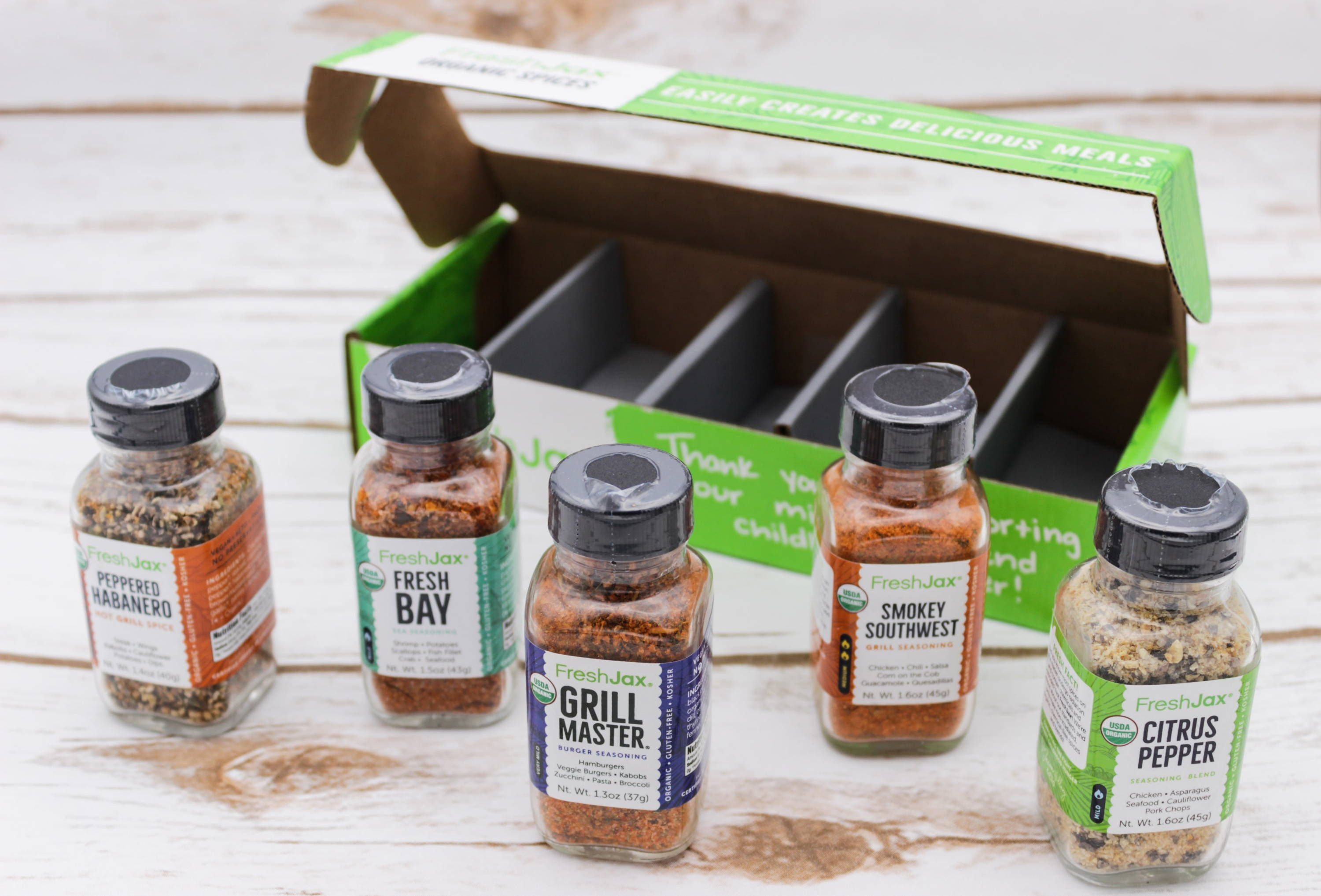 Grilling Spices Gift Set FreshJax Organic Spices