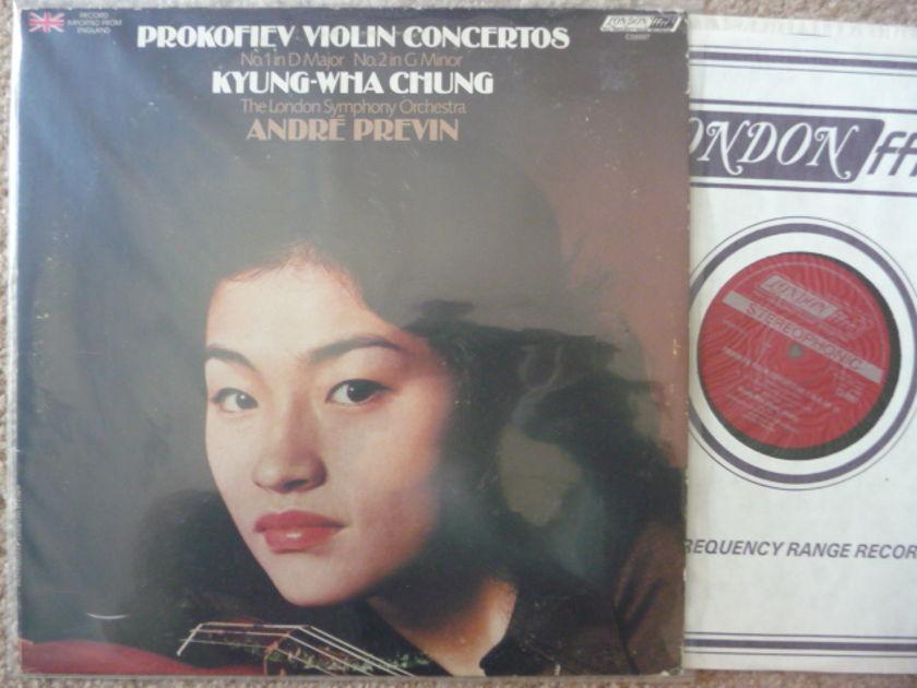PROKOFIEV VIOLIN CONCERTO - KYUNG WHA  CHUNG VIOLIN LONDON LP EXCELLENT