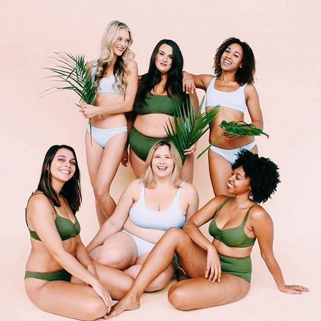body positive women in swimwear