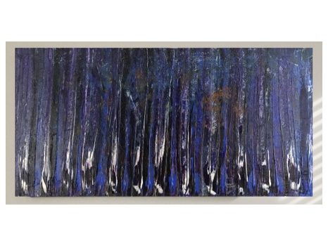 """Birch Forest"""" - Acrylic Painting (48"""" x 24"""")"""