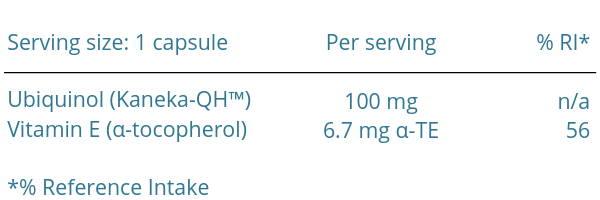 VESIsorb® Ubiquinol-QH premium Coenzyme Q10 100 mg, 30 capsules