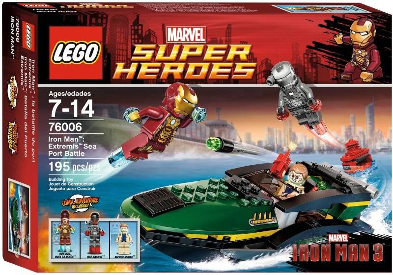 lego iron man extremis sea port battle