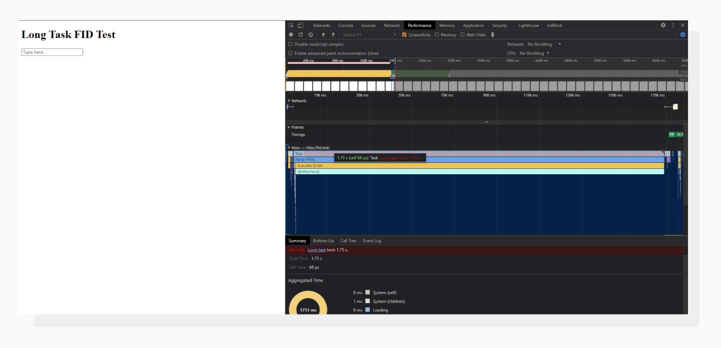Chrome DevTools Performance tab