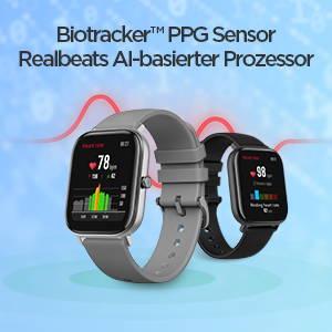 Amazfit GTS - Biotracker PPG Sensor & Realbeats AI-basierter Prozessor