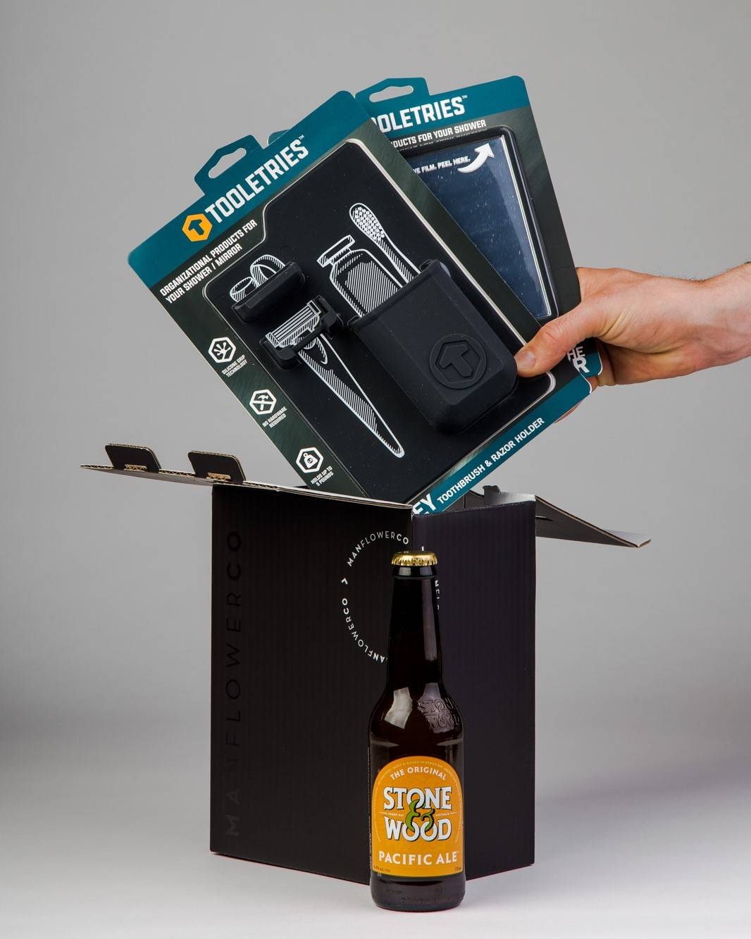 Tooletries + Beer, part of Manflower Co's range of holiday gifts for men.