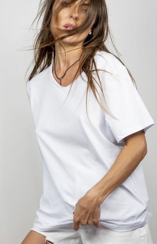 Белая футболка Try Merry