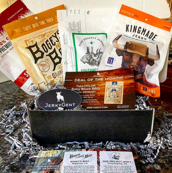 JerkyGent Jerky of The Month Club Beef Jerky Subscription
