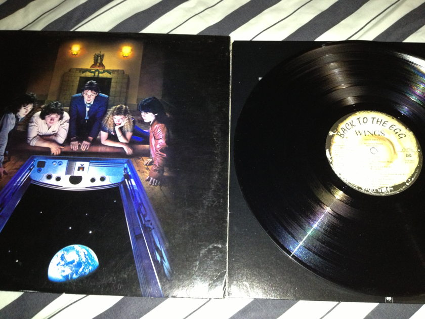 Wings(Paul McCartney) - Back To The Egg LP NM Promo Stamp Back Cover