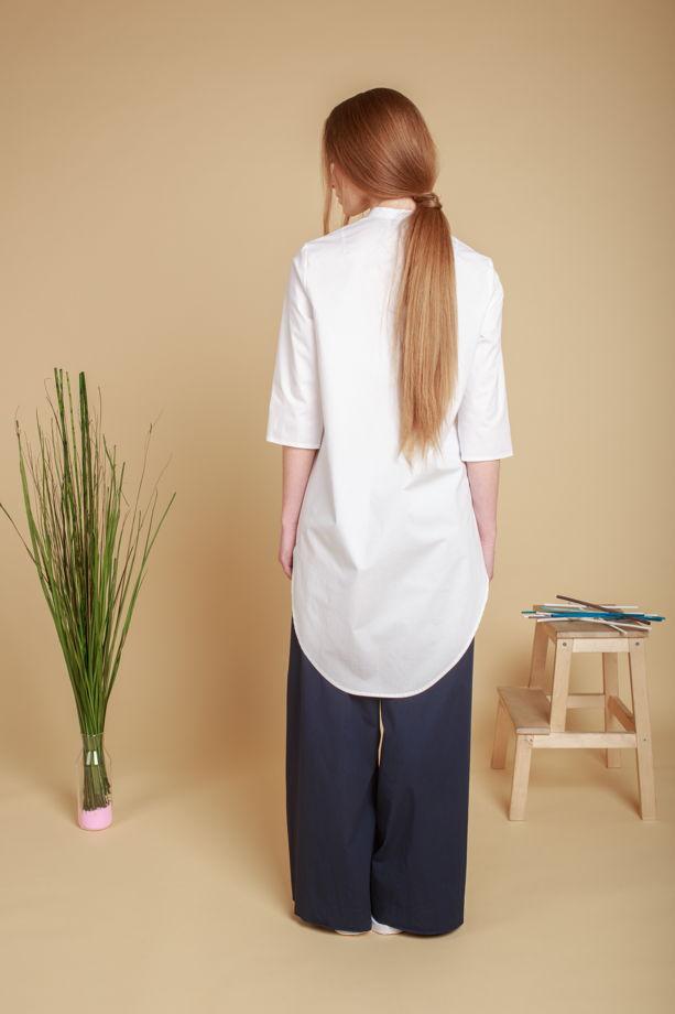 Рубашка женская, воротник - стойка