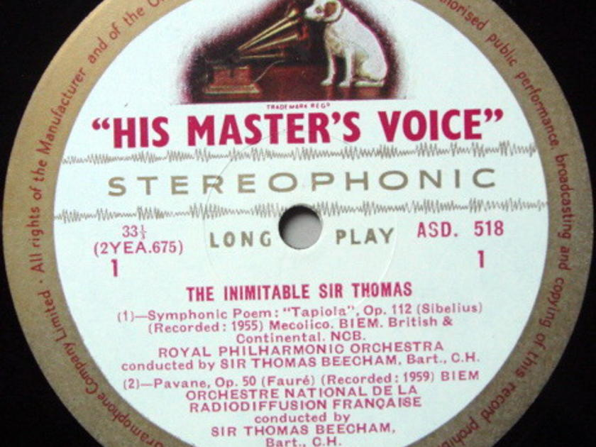 ★1st Press★ EMI ASD WHITE & GOLD / BEECHAM, - The Inimitable Sir Thomas, NM!