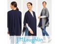 J. McLaughlin Cashmere Reversible Fringe Wrap