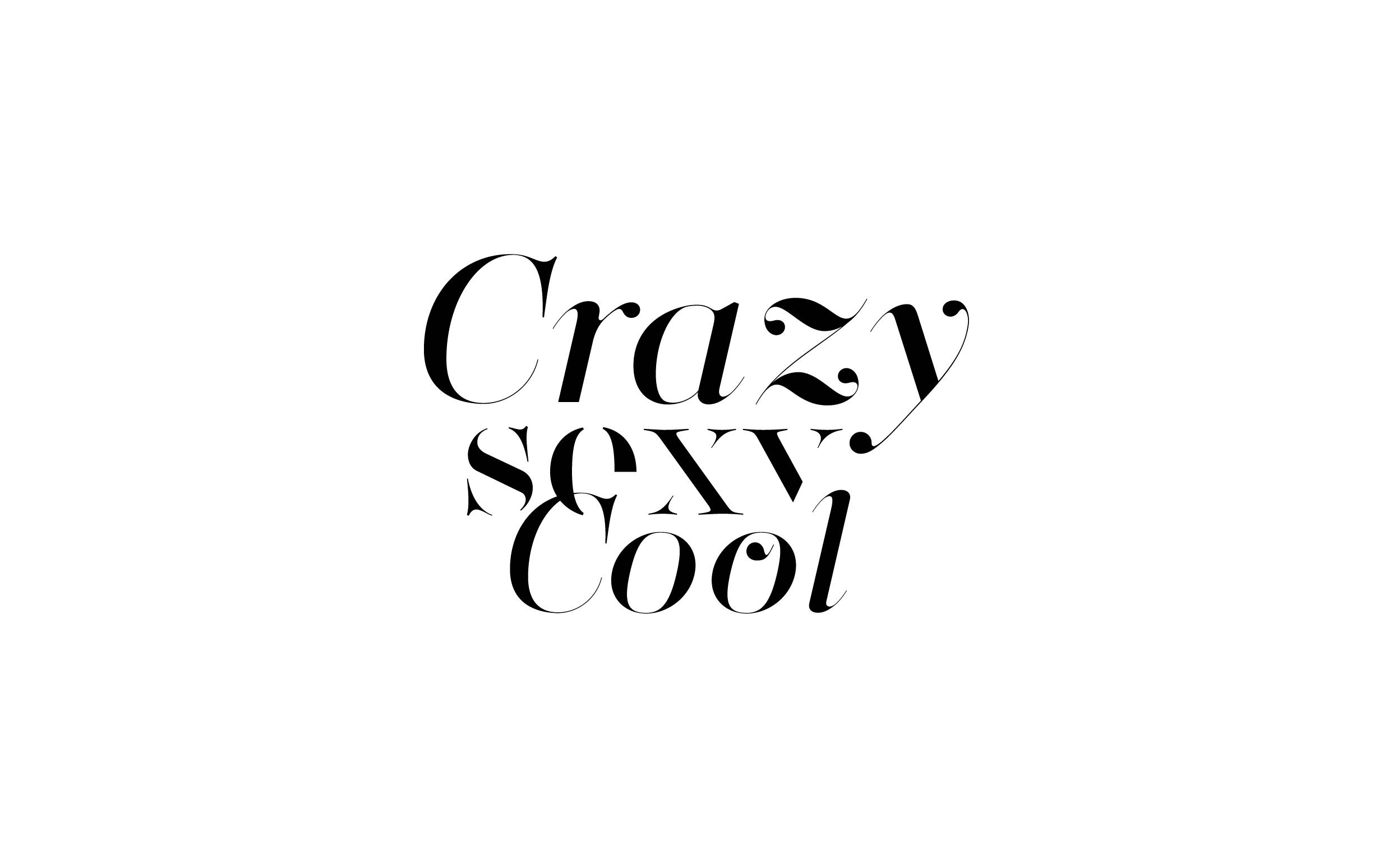 Crazy sexy cool - Custom sexy type collection by Moshik Nadav Typography