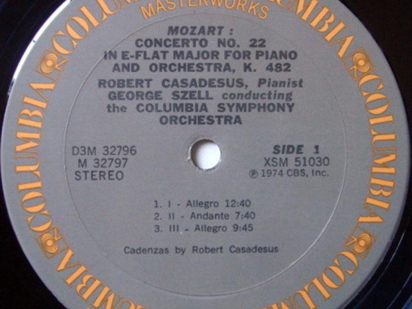 Columbia / CASADESUS-SZELL, - Mozart Six Great Piano Concertos, NM, 3LP Box Set!