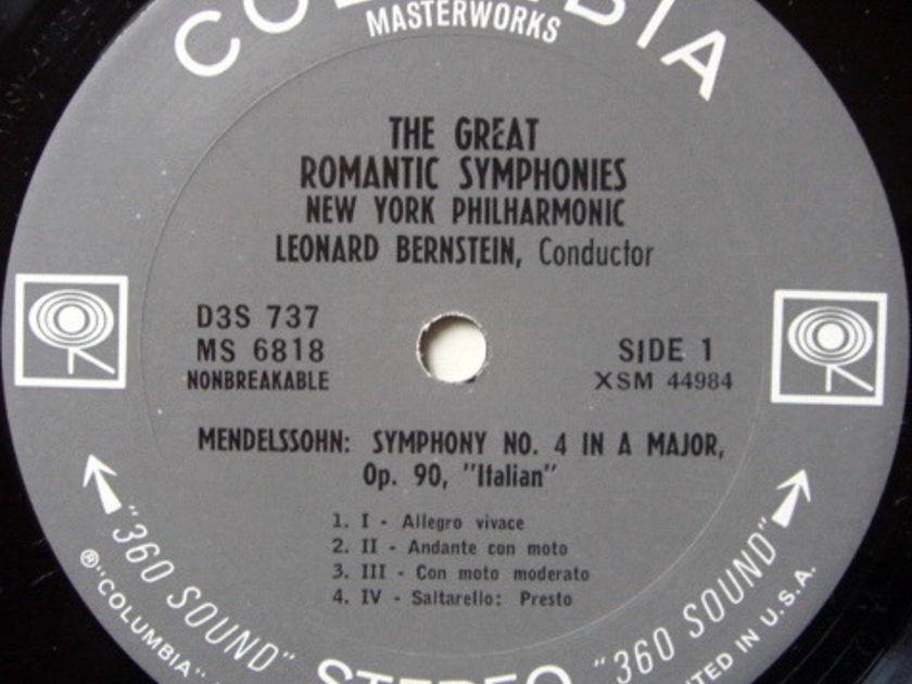 Columbia 2-EYE / LEONARD BERNSTEIN, - The Great Romantic Symphonies, NM, 3LP Box Set!