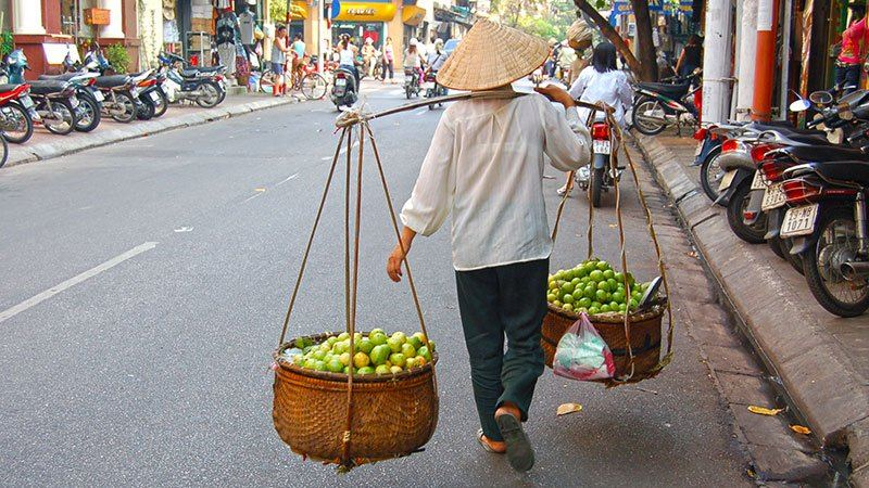 Fruit seller, Hanoi, Vietnam