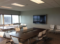 A classroom in the new facility.