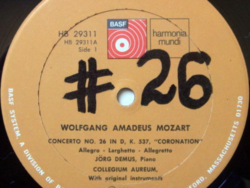 ★Audiophile★ Harmonia Mundi / DEMUS-COLLEGIUM AUREUM, - Mozart Piano Concertos No.26 Coronation & No.8, NM!