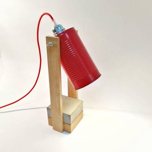 """настольная лампа """"Цапля"""" красная"""