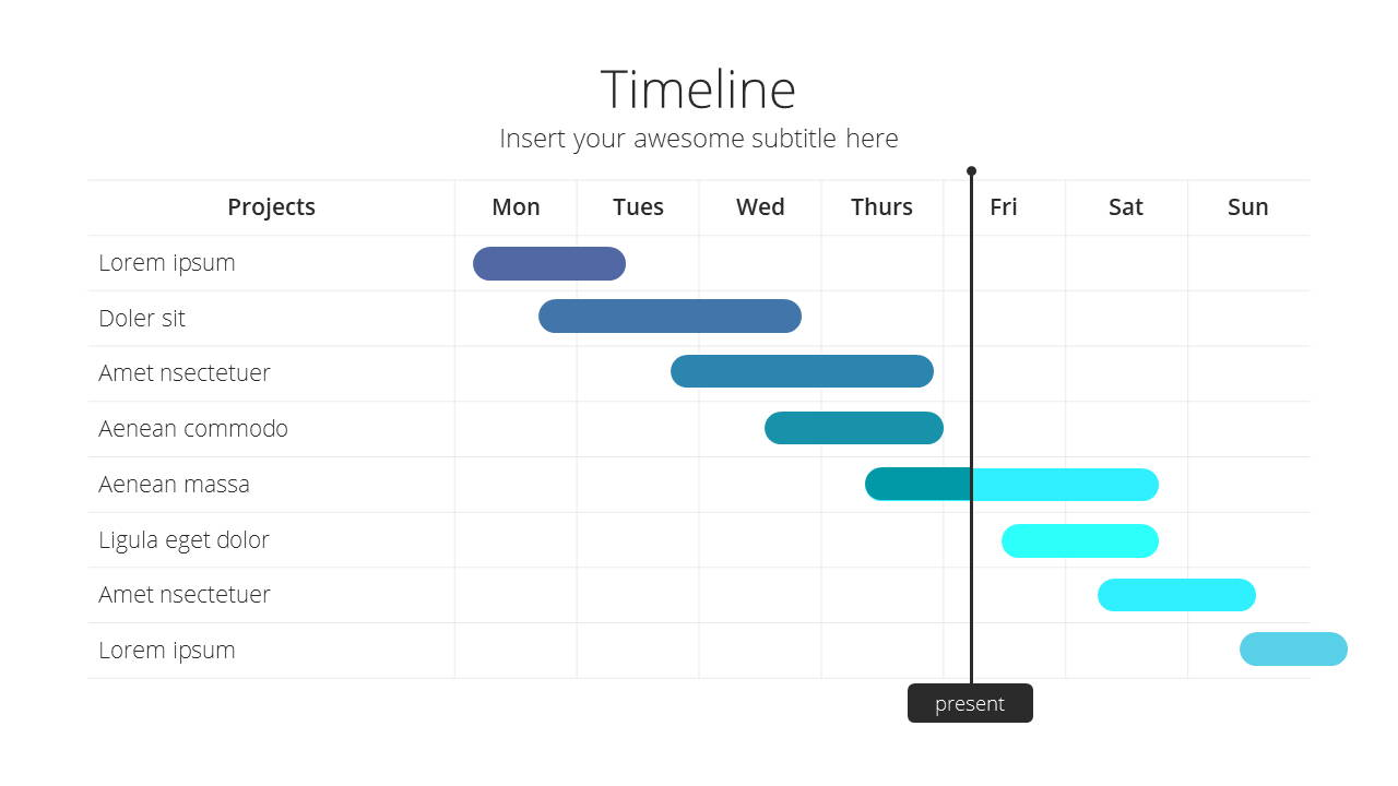 Modern X Consulting Firm Proposal Presentation Template Timeline